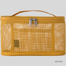 Mustard - Livework A low hill spa mesh makeup cosmetic zipper pouch
