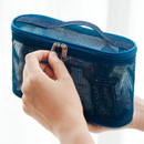 Double zipper - Livework A low hill spa mesh makeup cosmetic zipper pouch