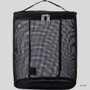 Black - Livework A low hill spa mesh travel zipper tote bag