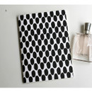 A - Inndesign Black and white pattern A5 grid blank notebook