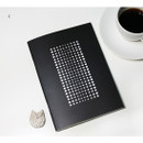 D - Inndesign Black and white pattern A5 grid blank notebook