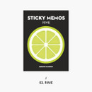 Lime - Second Mansion Fruits sticky notes memo pad