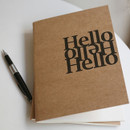 Inndesign Hello A5 blank notebook