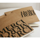 Inndesign Merci Kraft cover A5 blank notebook