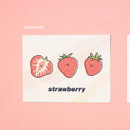Strawberry - Ardium Cute virus message postcard