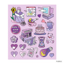 Purple - Pop illustration colorful point paper deco sticker ver2