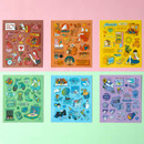 Pop illustration colorful point paper deco sticker ver2