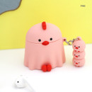 Pink - ROMANE Peep Peep AirPods case silicon cover with keyring