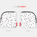 Celebrate - All new frame D collection mini zipper pouch