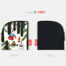 Forest - All new frame Myeongmi Choi E collection mini zipper pouch