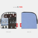 Paris - All new frame F collection mini zipper pouch