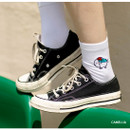 Camellia - DESIGN IVY Ggo deung o embroidered socks
