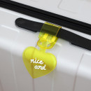 Yellow - 2NUL Nice and clear heart travel luggage name tag