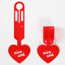 Red - 2NUL Nice and clear heart travel luggage name tag