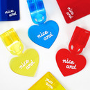 2NUL Nice and clear heart travel luggage name tag