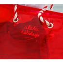 Logo - 2NUL Aloha holidays red beach shoulder bag