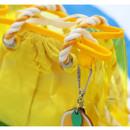 Example of use - 2NUL Aloha holidays yellow small beach shoulder bag