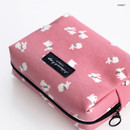 Rabbit - ICONIC Comely pattern makeup cosmetic pouch bag