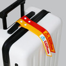 Caution Yellow, Caution Red - Be on D 90s coolkids party travel luggage name tag
