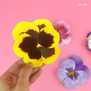 Yellow - ABJECTION Pansy flower card and envelope set