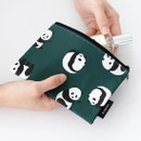 Example of use - ICONIC Comely water resistant small flat pouch bag