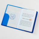 Blue - 2NUL Nice and clear travel passport case holder