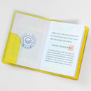 Yellow - 2NUL Nice and clear travel passport case holder