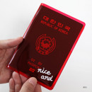 Red - 2NUL Nice and clear travel passport case holder