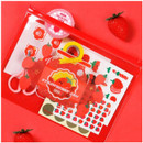 Fake strawberry - Be on D Fake food medium clear zip lock pouch