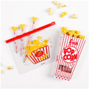 Fake popcorn - Be on D Fake food medium clear zip lock pouch