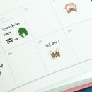 Example of use - Dailylike Welsh corgi PVC cute seal sticker for the diary