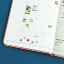 Example of use - Dailylike Market PVC cute seal sticker for the diary