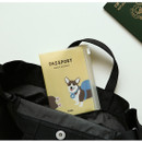 Example of use - Dailylike Backpack corgi zip pocket travel passport cover holder