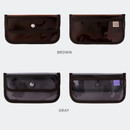 Color - Livework Coi clear PVC snap button clutch bag pouch