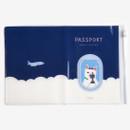 Detail of Dailylike Happy cat zip pocket travel passport cover holder