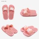 Pink - Dailylike Bichon Frise non slip bath shower slippers
