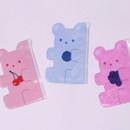 Jelly bear medium clear zip lock pouch