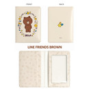 Brown - Monopoly Flower line friends card case holder