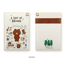 Brown - Monopoly A day of Line friends card case holder