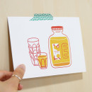 Example of use - Jam Studio Orange juice message card with envelope