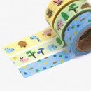Example of use - Dailylike Friends paper masking tape set of 3
