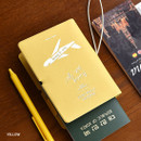 Yellow - Play Obje Alway we go hologram passport cover holder with a travel planner