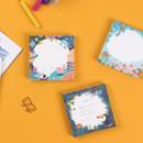 The Bon Bon jour trois fois square memo notepad