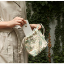 Example of use - Dailylike Giverny soft oxford cotton bucket drawstring pouch