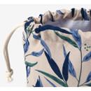 Detail of Dailylike Nicholii soft oxford cotton bucket drawstring pouch