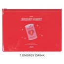 Energy drink - For me party medium clear zip lock pouch