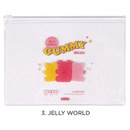 Jelly world - For me party medium clear zip lock pouch