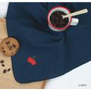 Cherry - Wanna This Tailorbird cute embroidered hankie handkerchief ver4