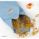 Shiba dog - Wanna This Tailorbird cute embroidered hankie handkerchief ver4