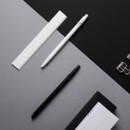 Example of use - MONAMI 153 black and white knock retractable ballpoint pen